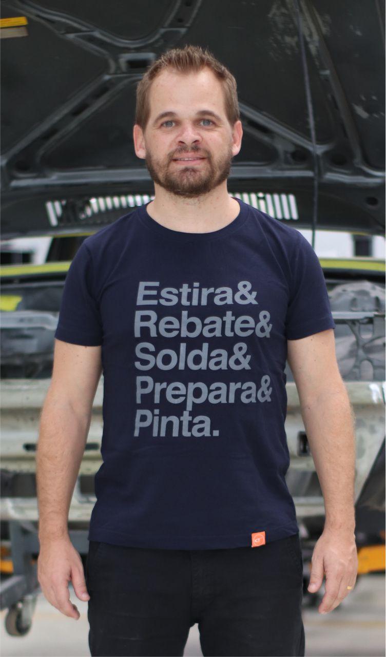 CAMISETA | ESTIRA & REBATE & SOLDA & PREPARA & PINTA
