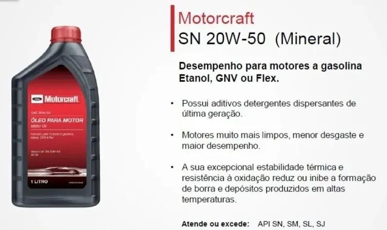 ÓLEO MINERAL MOTORCRAFT API SN | 20W50