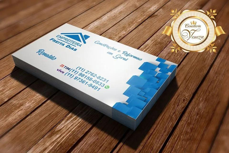 Cartão de Visita 4x0 ( Frente )