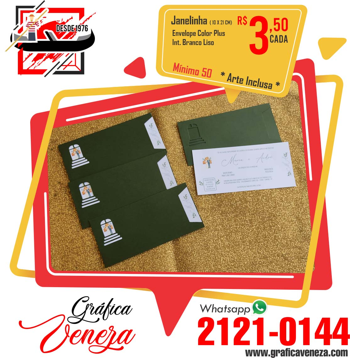 Janelinha - 10x21 cm
