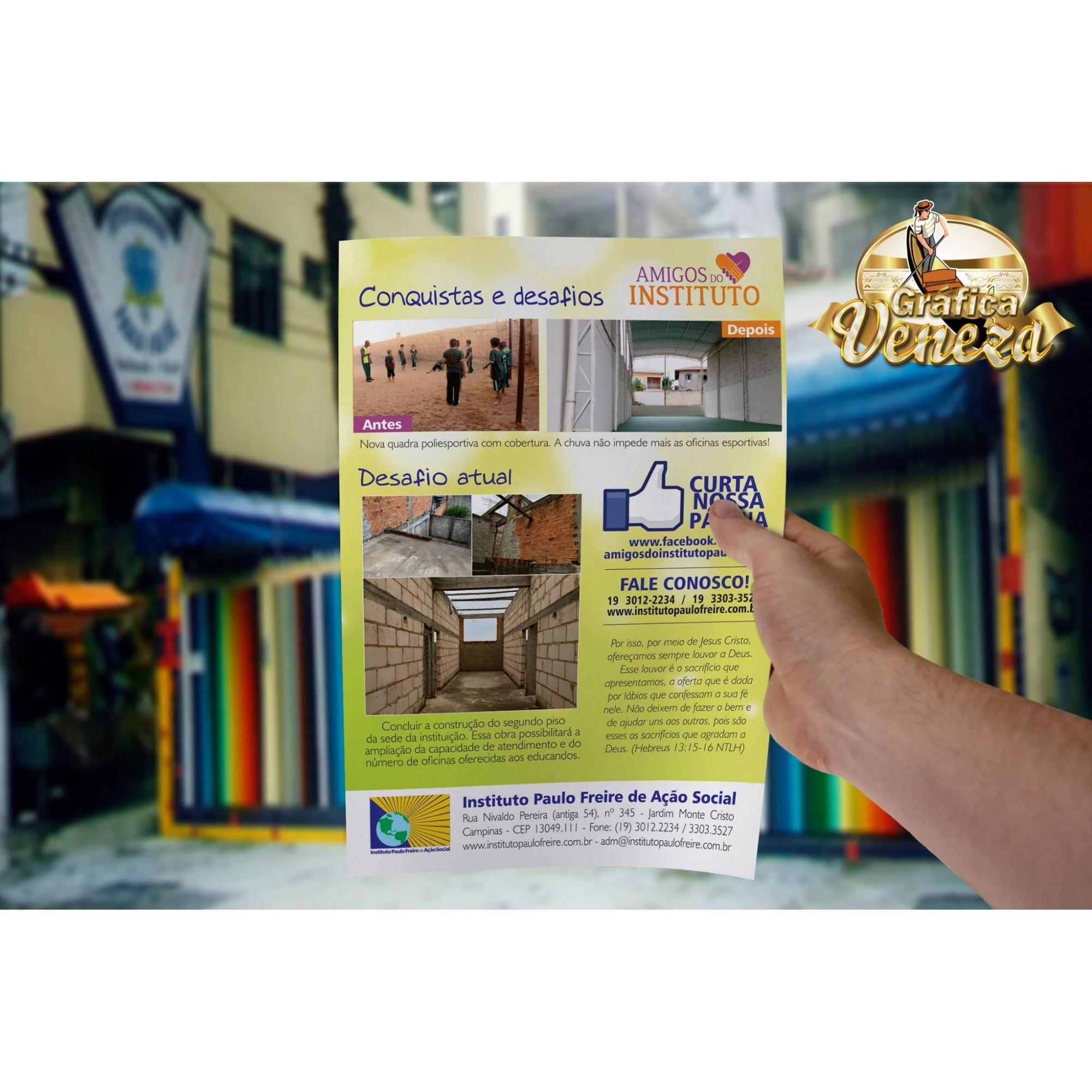 Panfletos Promocionais - 90gr ( Frente )