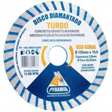 Disco Diamantado Turbo Pyramid 125mm