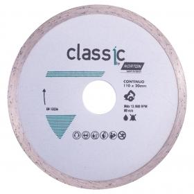 Disco Diamantado Classic Continuo Norton 110mm