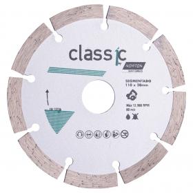 Disco Diamantado Norton Classic Segmentado 110mm