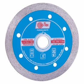 Disco Diamantado para porcelanto Continuo Fino Disflex 110mm