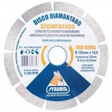 Disco Diamantado Segmentado Pyramid 125mm