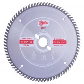 Disco de Serra Circular de Widea 250x30,0mm 80D mdf Disflex
