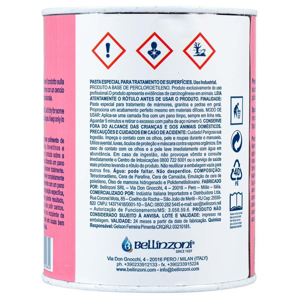 Cera Lata Rosa para Polimento Bellinzoni 1,3kg