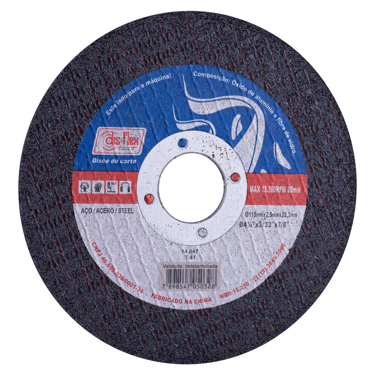 Disco de Corte para Aço Carbono  115x2,5x22,2mm Disflex