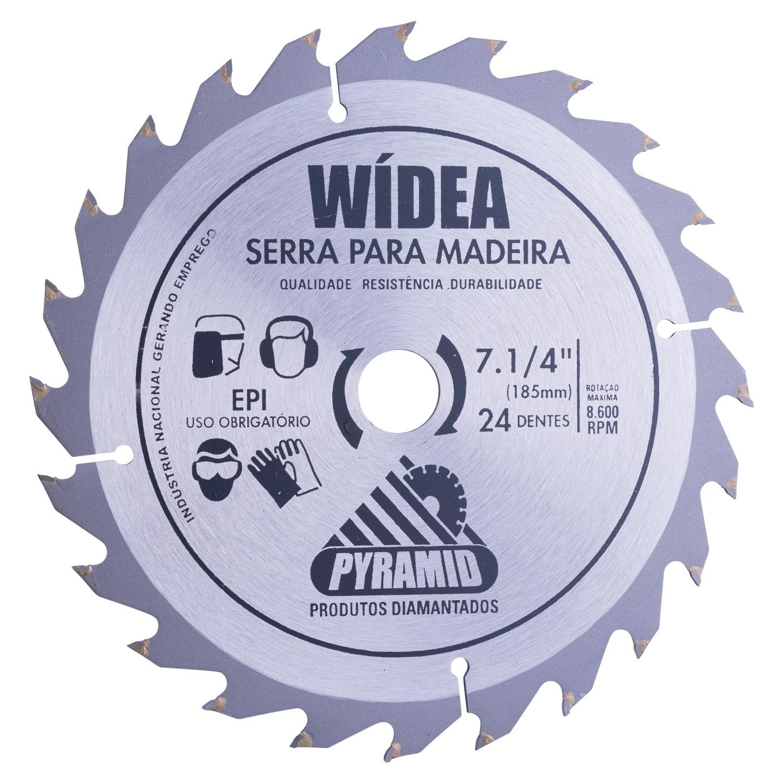 Disco de Corte Wídea 185mm com 24 Dentes