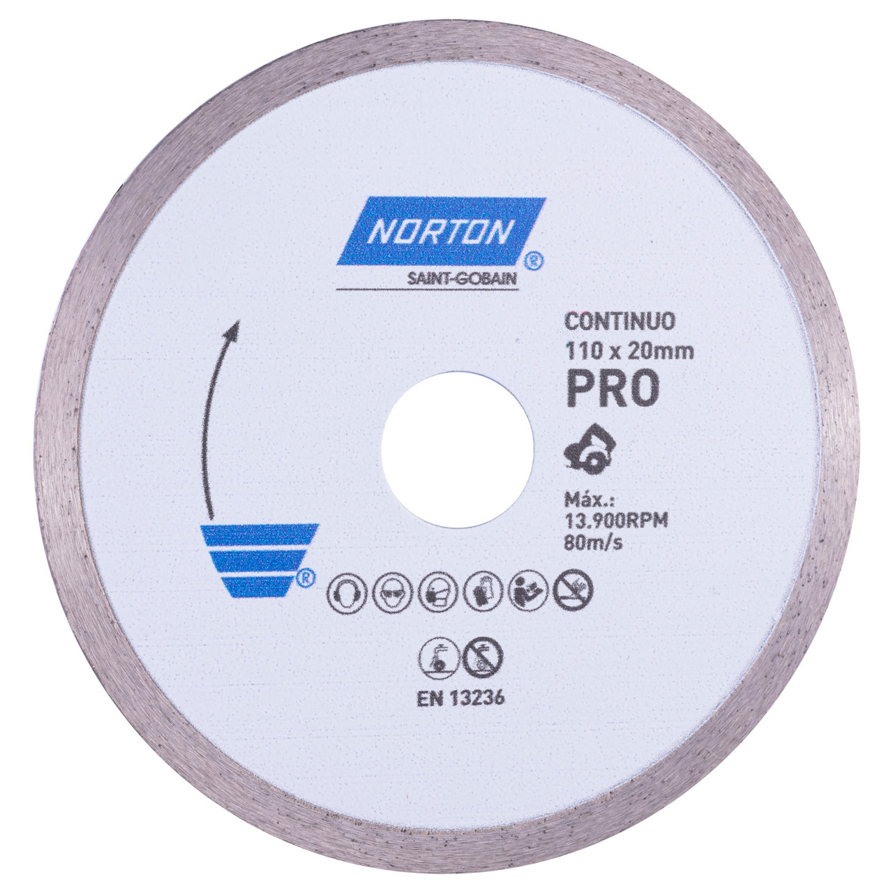 Disco Diamantado Norton Pro Continuo 110mm