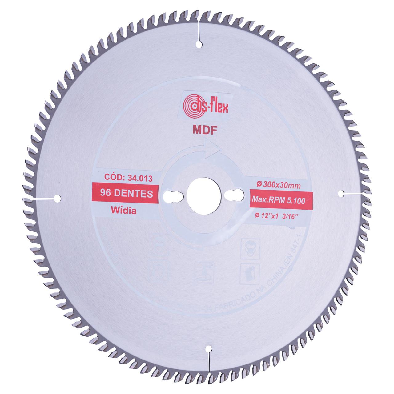 Disco de serra circular de widea 300x30,0mm 96D Disflex