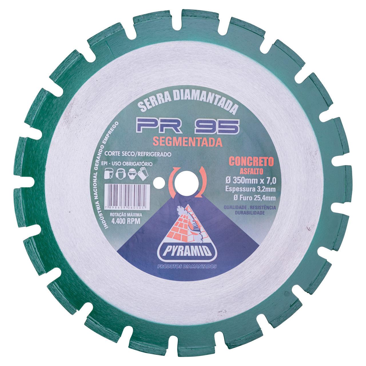 Disco de Serra Normal concreto e asfalto PR-95 Verde 350mm