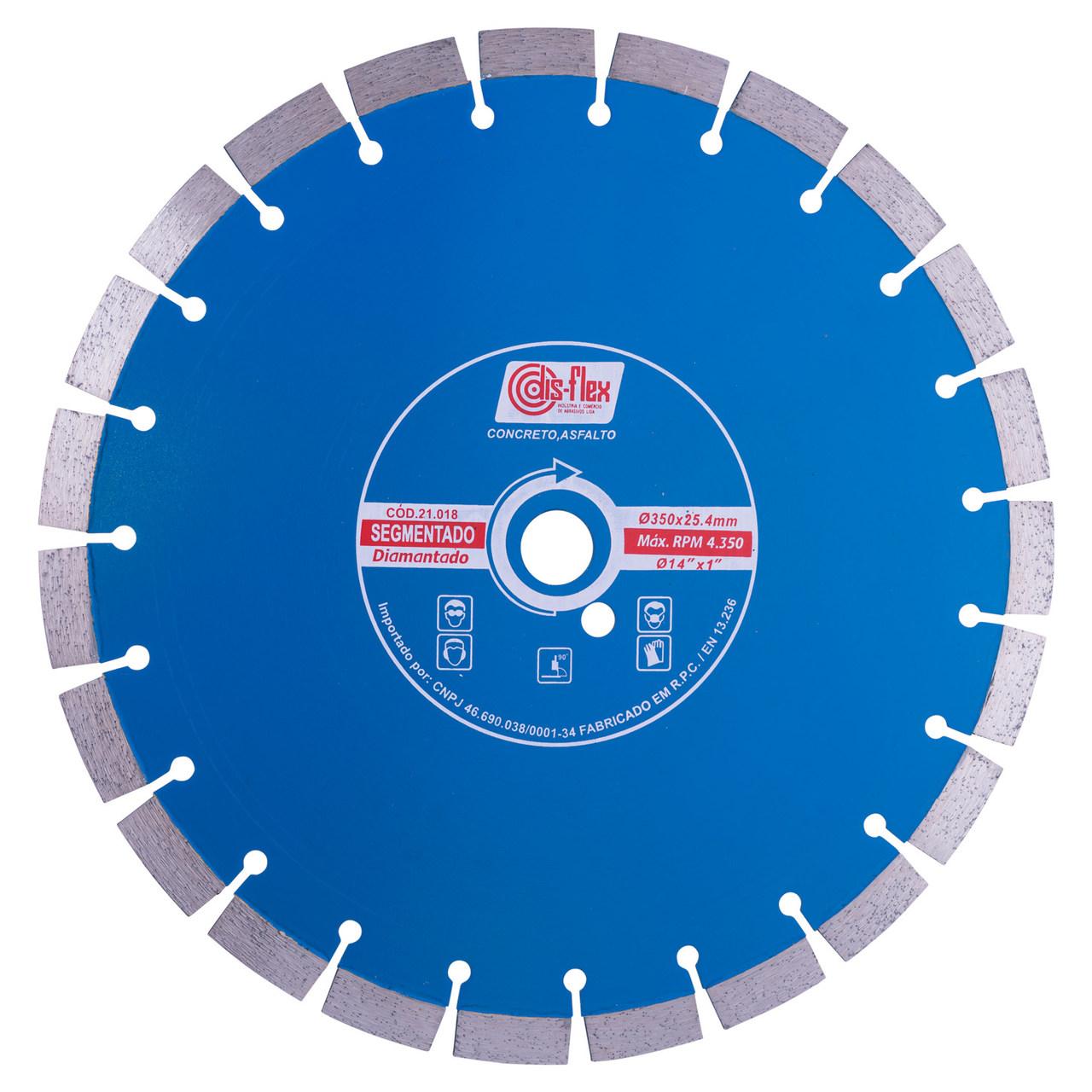 Disco de Serra Normal para concreto/asfalto 350mm Disflex