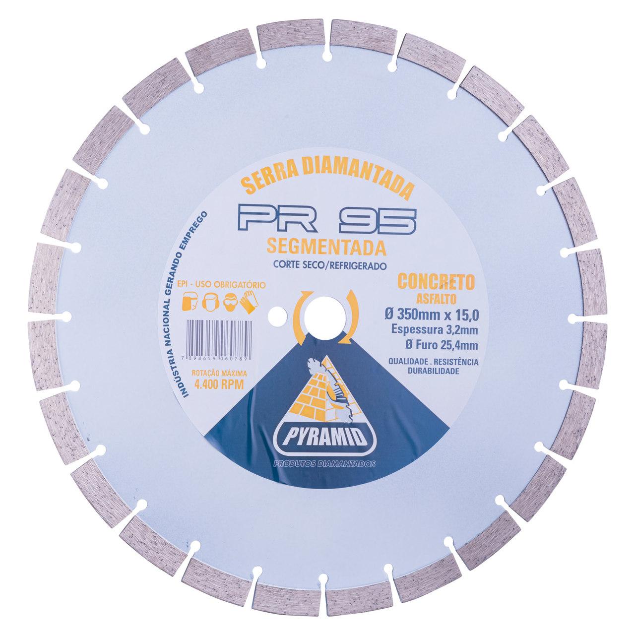 Disco de Serra Normal para concreto PR-95 Branca 350mm