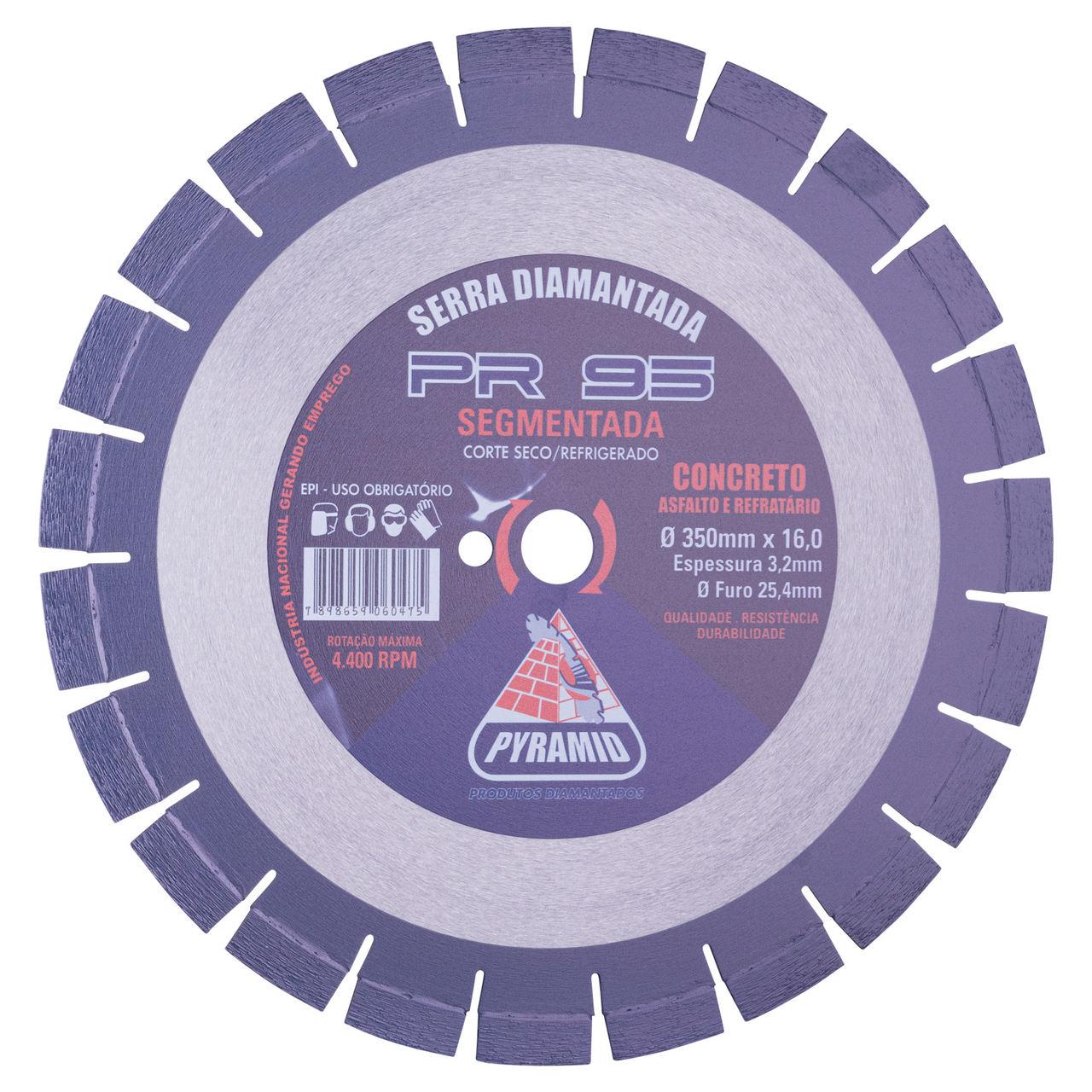 Disco de Serra para asfalto Normal PR-95 Azul 350mm