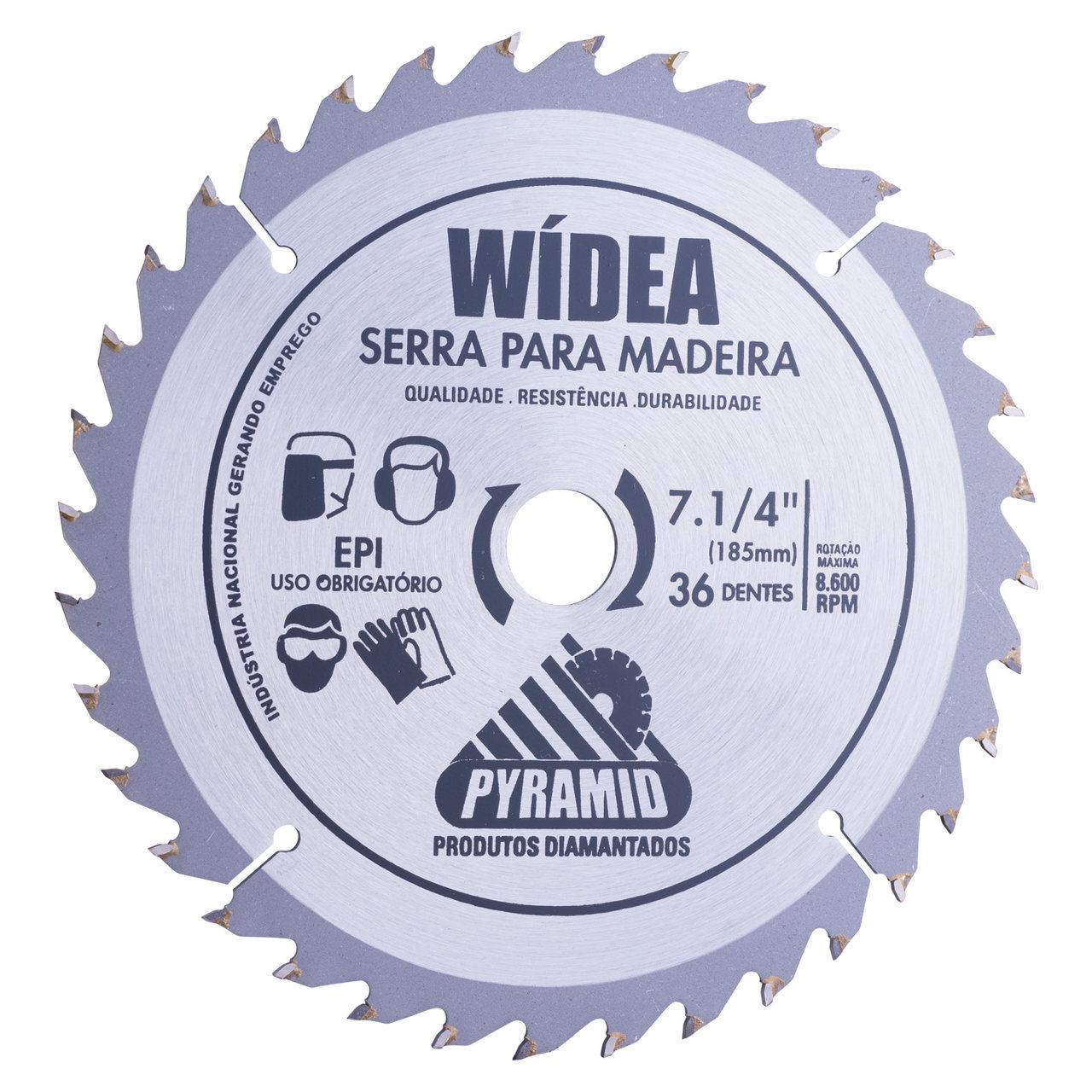 Disco de serra Wídea 185mm 36 dentes