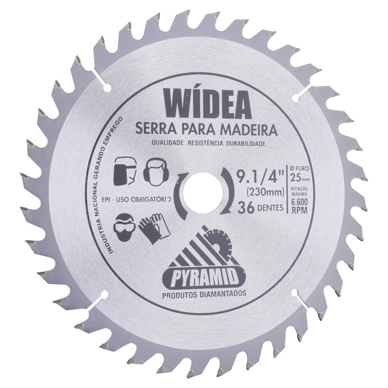 Disco de Serra Wídea 230mm com 36 Dentes Pyramid
