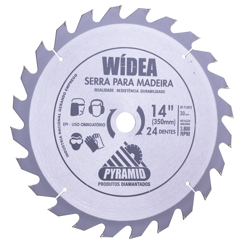 Disco de Serra Wídea 350mm com 24 Dentes