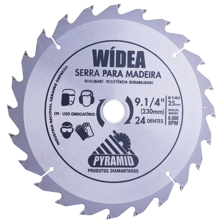 Disco de Serra Wídea 230mm com 24 Dentes