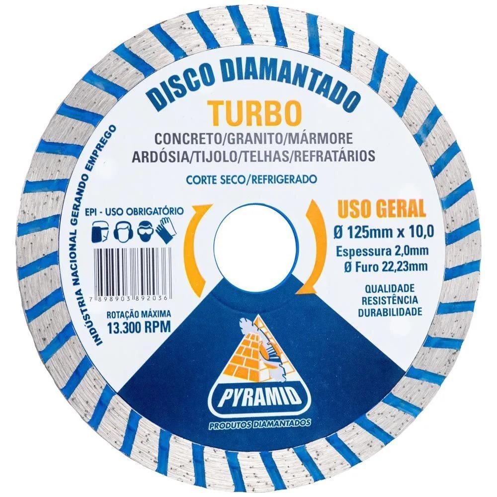 Disco Diamantado Turbo Pyramid 125mm