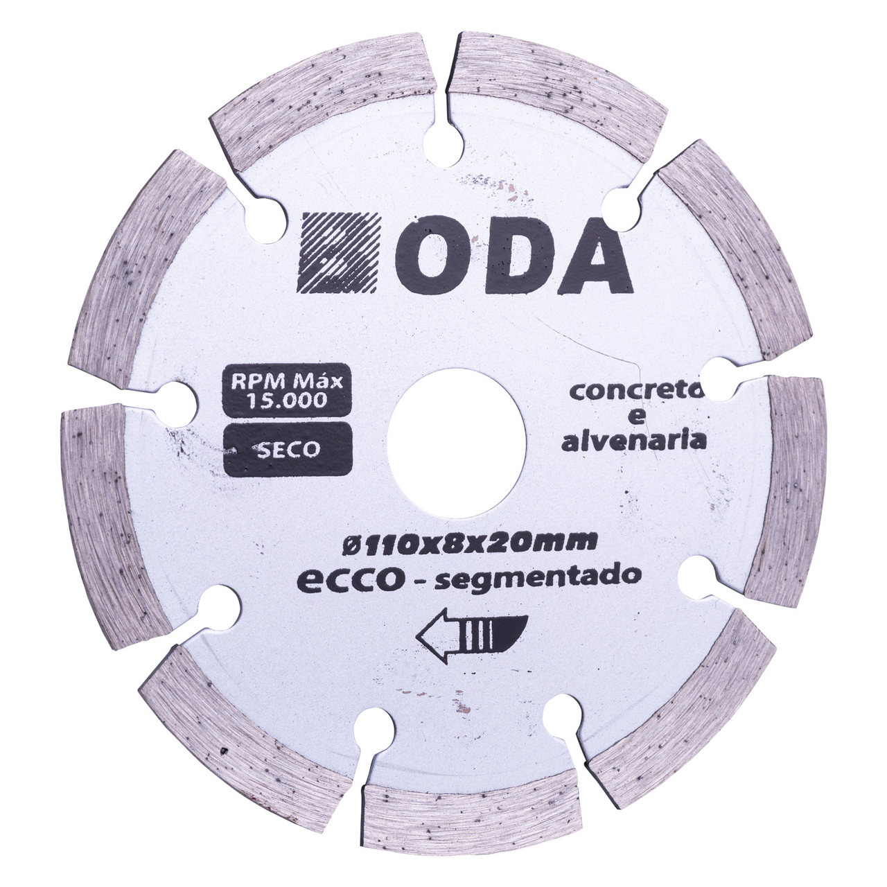 Disco diamantado Boda Ecco segmentado 110mm