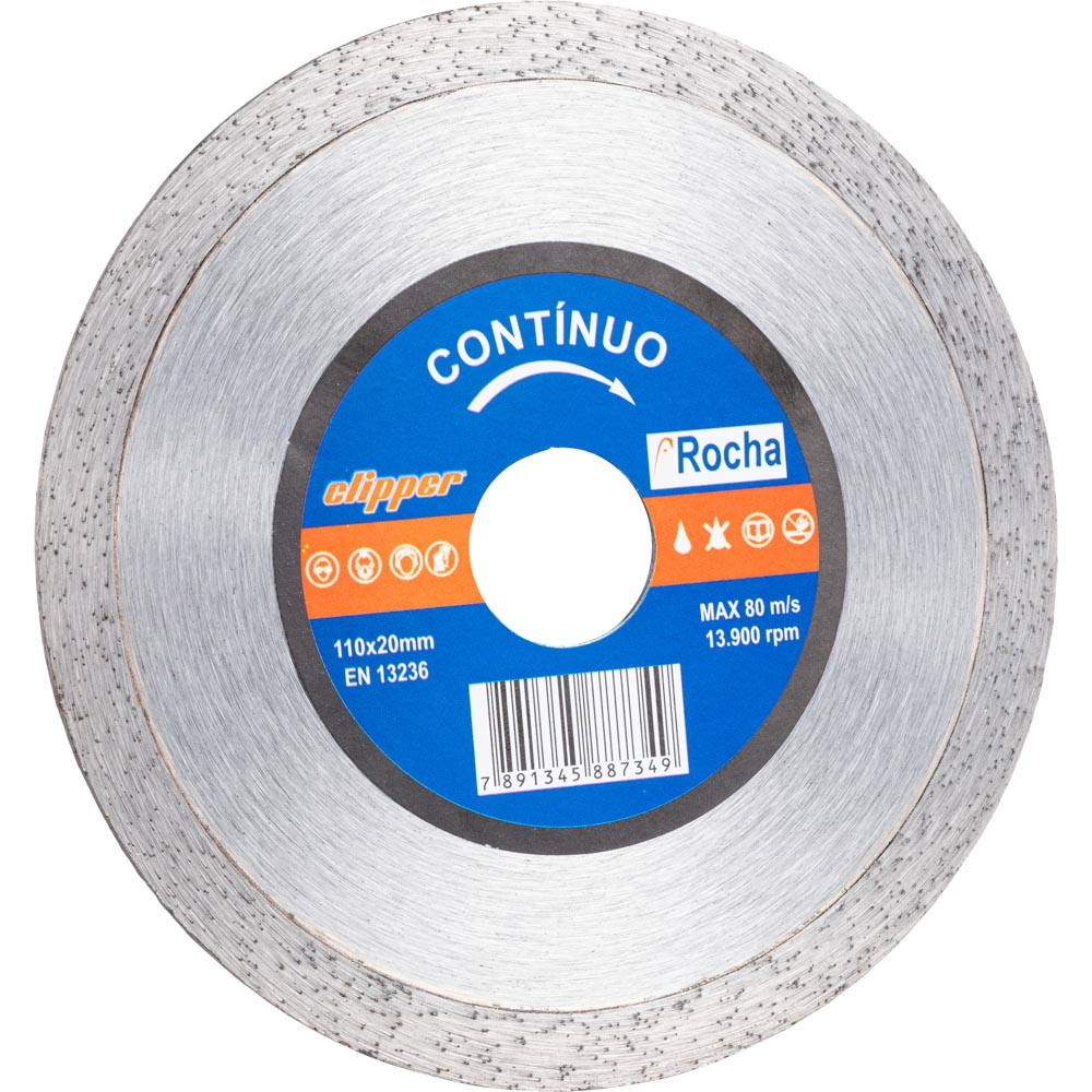 Disco Diamantado Contínuo Rocha 110mm