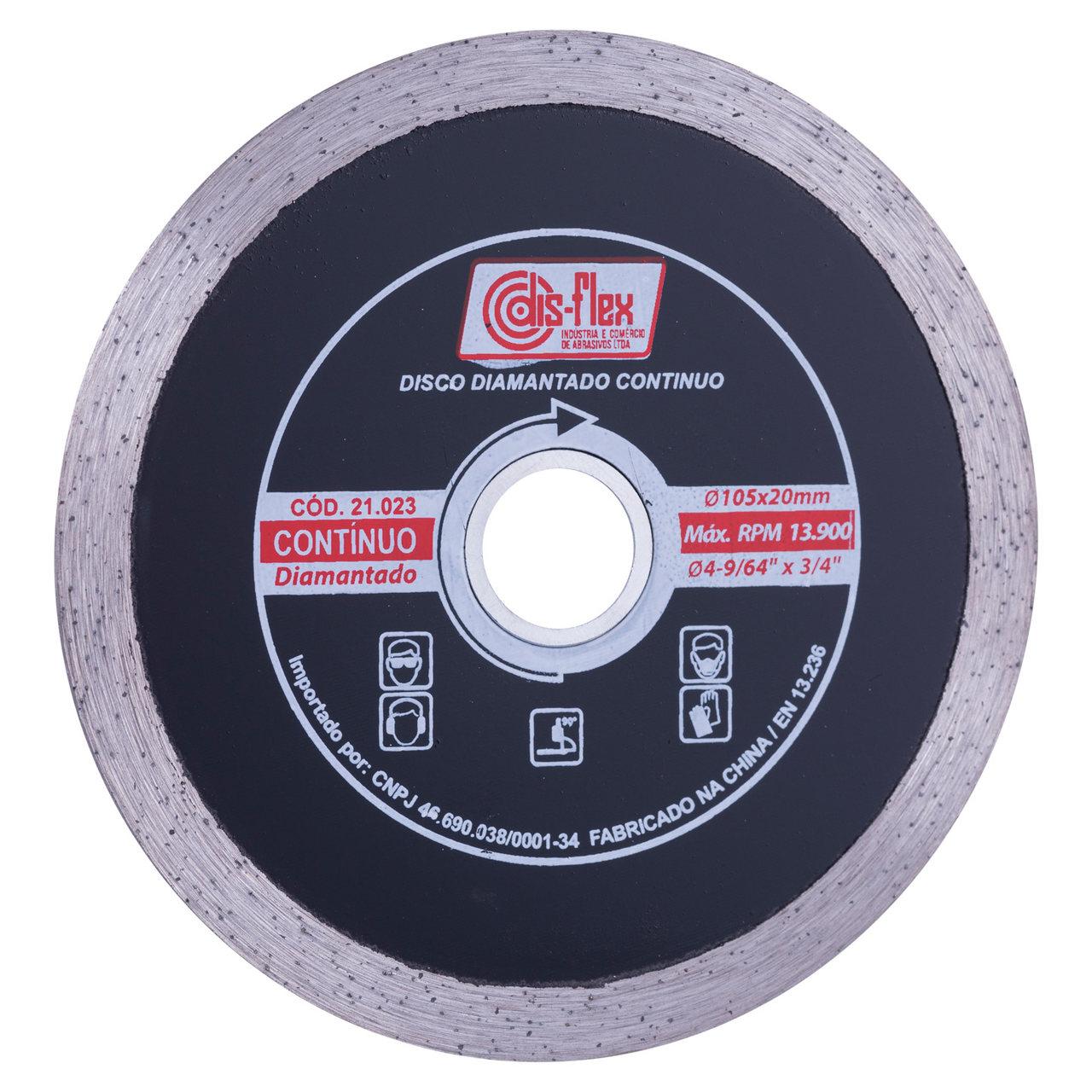 Disco Diamantado Continuo Disflex 105mm