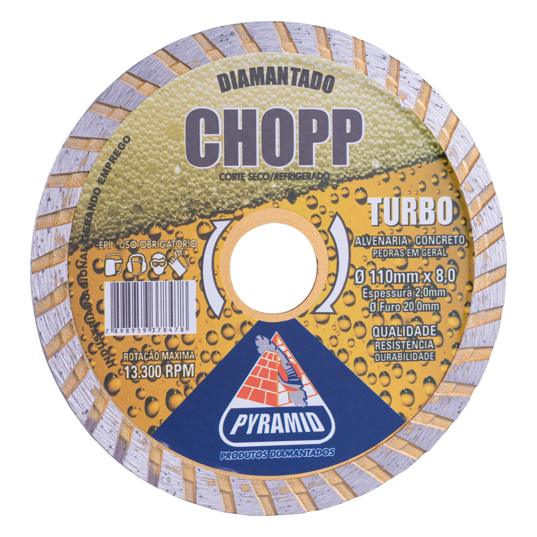 Disco Diamantado Turbo Chop 110mm
