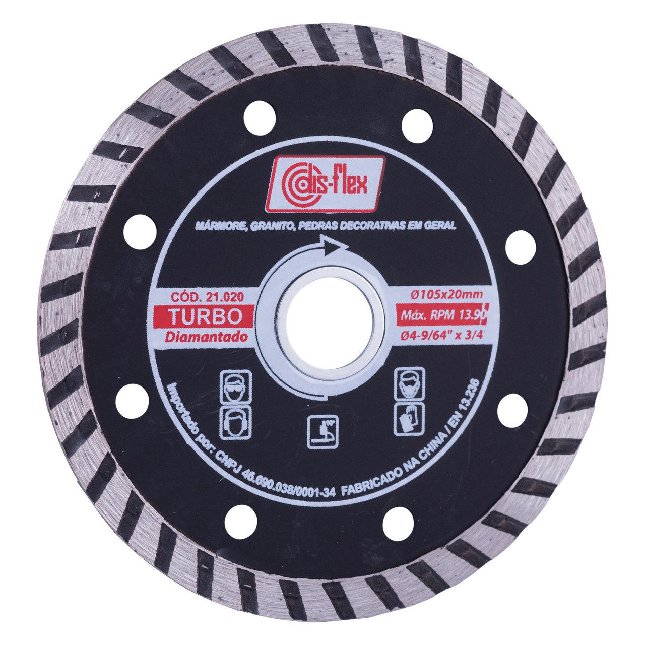Disco Diamantado Turbo Disflex 105mm