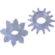 Kit Anel Peniano Com Estimulador Silicone - Hot Flowers
