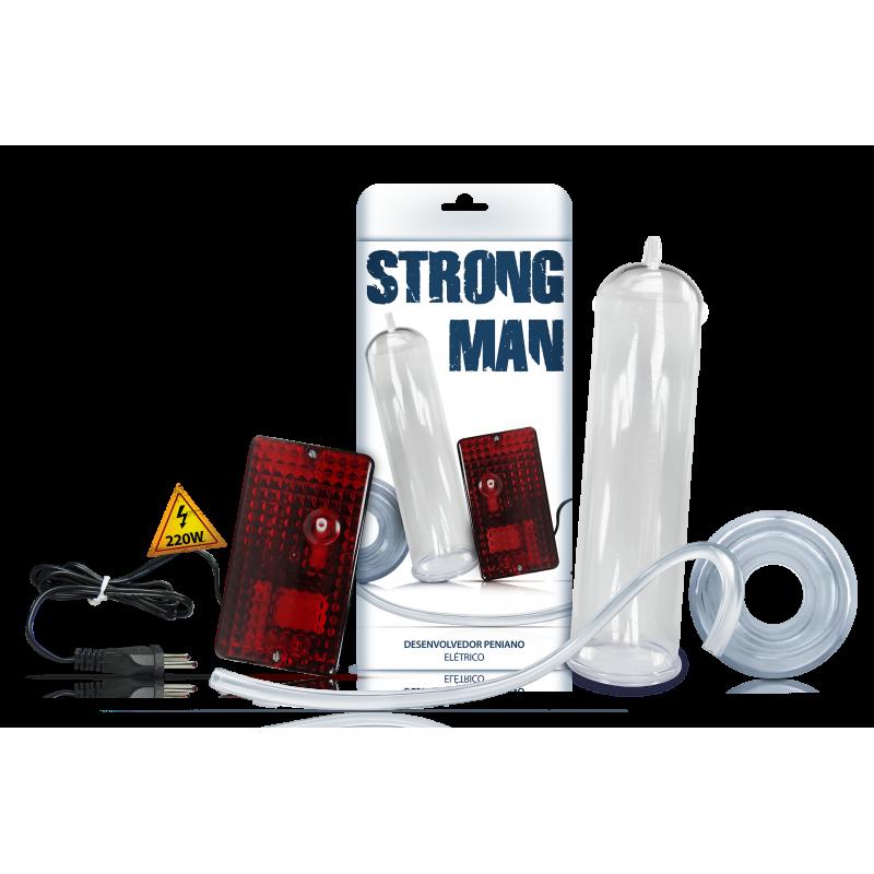 Bomba Desenvolvedora Peniana Elétrica 220V - Strong Man Sexy Fantasy