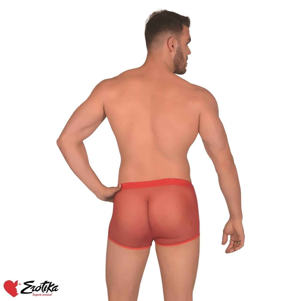 Cueca Boxer Transparente Branca - Erótika