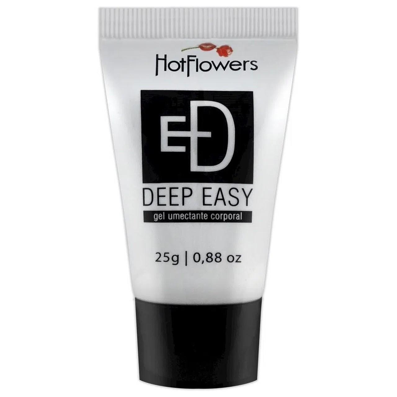 Deep Easy Gel Lubrificante Anal e Relaxante Muscular - Hot Flowers