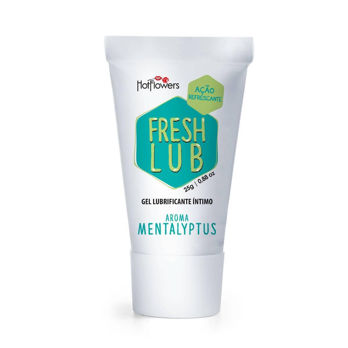 Fresh Lub - Lubrificante Comestível Com Sensação - Hot Flowers 25 g
