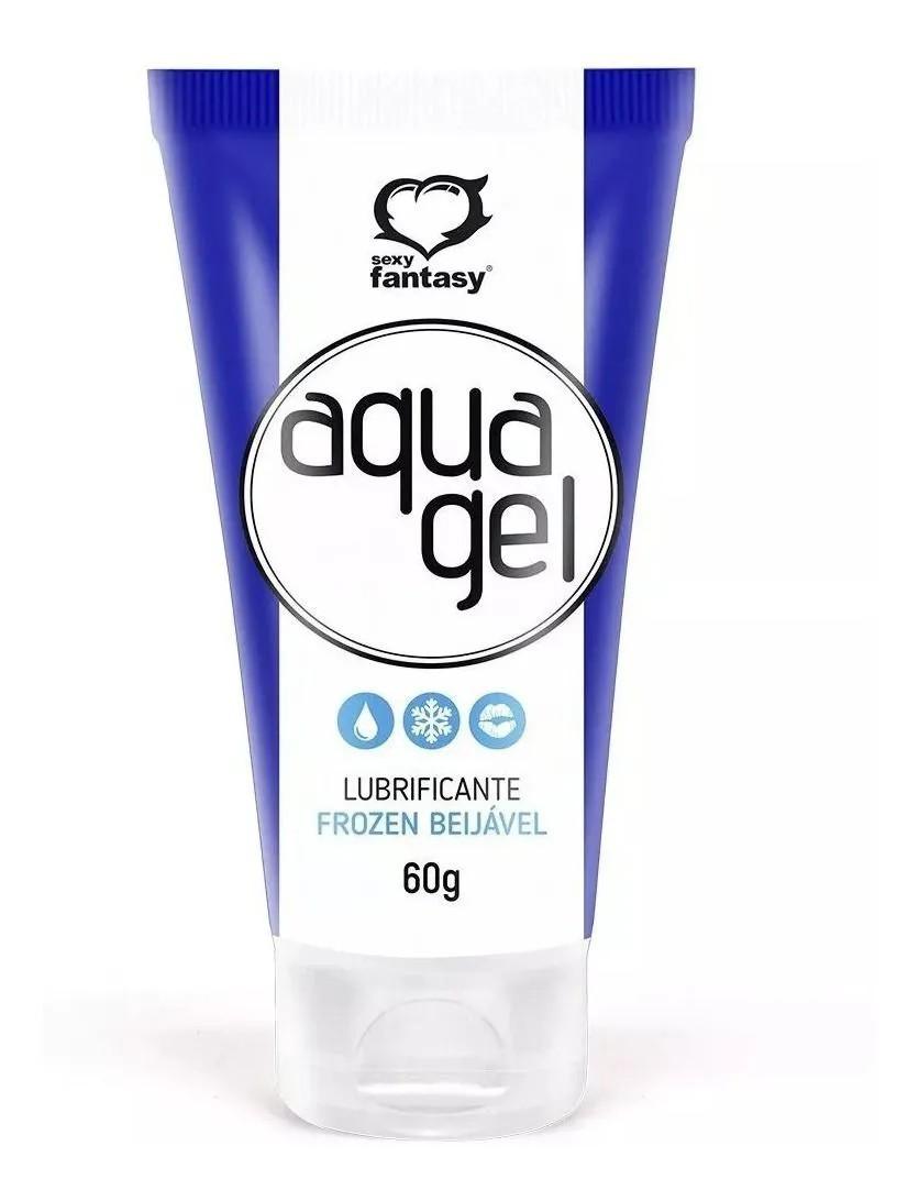 Lubrificante Aqua Gel Beijável Ice/Gelado - Sexy Fantasy - 60g