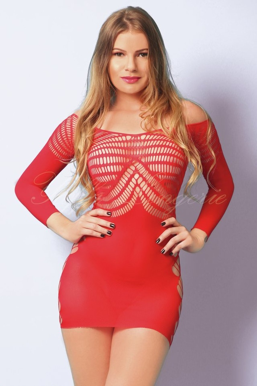 Mini Vestido Com Manga Vermelho - Yaffa