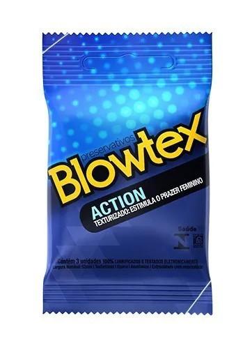 Preservativo Action Texturizado - EstImula Prazer Feminino - Blowtex