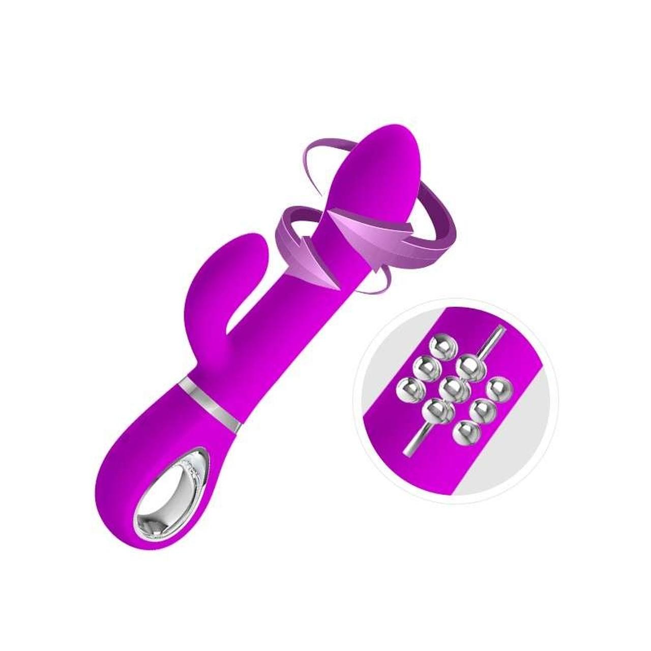 Vibrador Rotativo Recarregável com 12 Modos de Rotação e 4 Modos de Vibração - Pretty Love Ternence