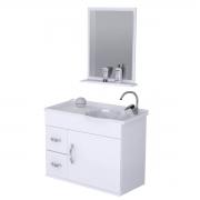 Armário Banheiro com Pia e Espelho Siena 55x44x28cm - AJRorato