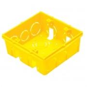 Caixa de Luz 4x4 PVC Amarela - Tramontina