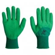 Luva Emborrachada Corrugada Látex Verde Tam 9-G