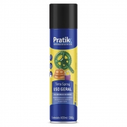 Tinta Spray Preto Fosco 400ml - Pratik