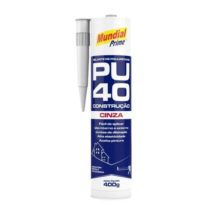 Selante Poliuretano PU40 Branco 400g - Mundial Prime