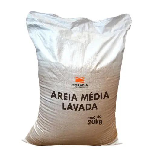 Areia Média Lavada Ensacada 25kg