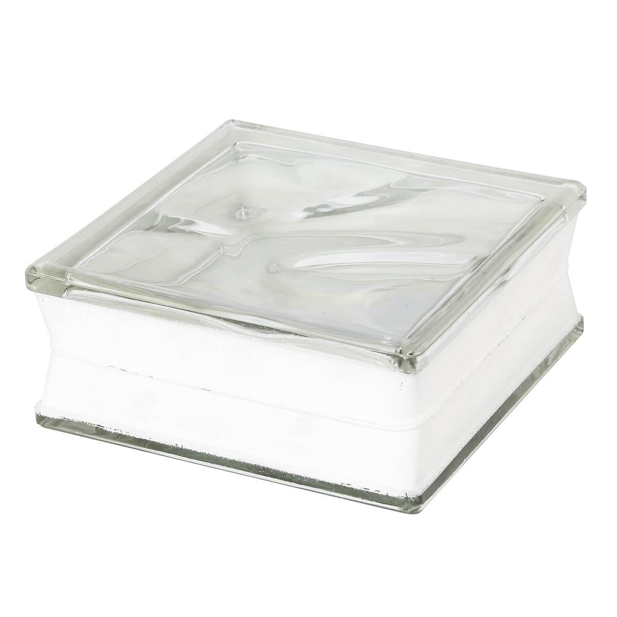 Bloco de Vidro Ondulado Incolor 19x19x8cm - Seves Glassblock