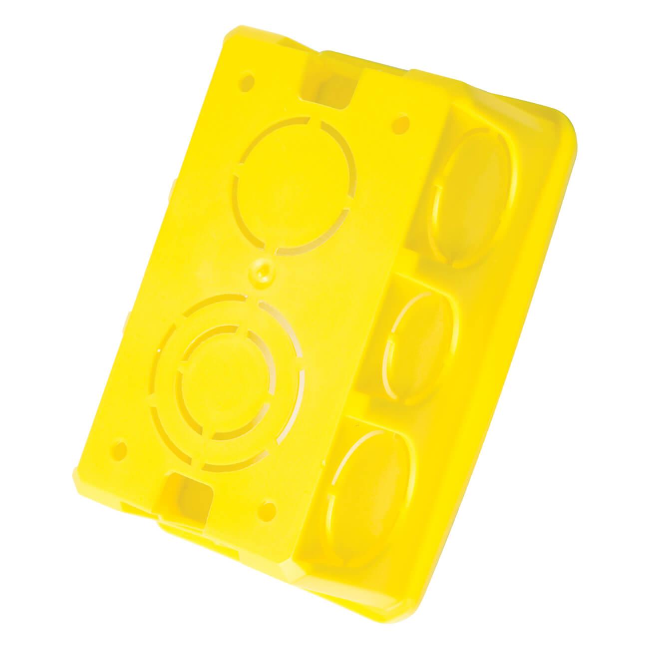 Caixa de Luz 4x2 PVC Amarela - Tramontina