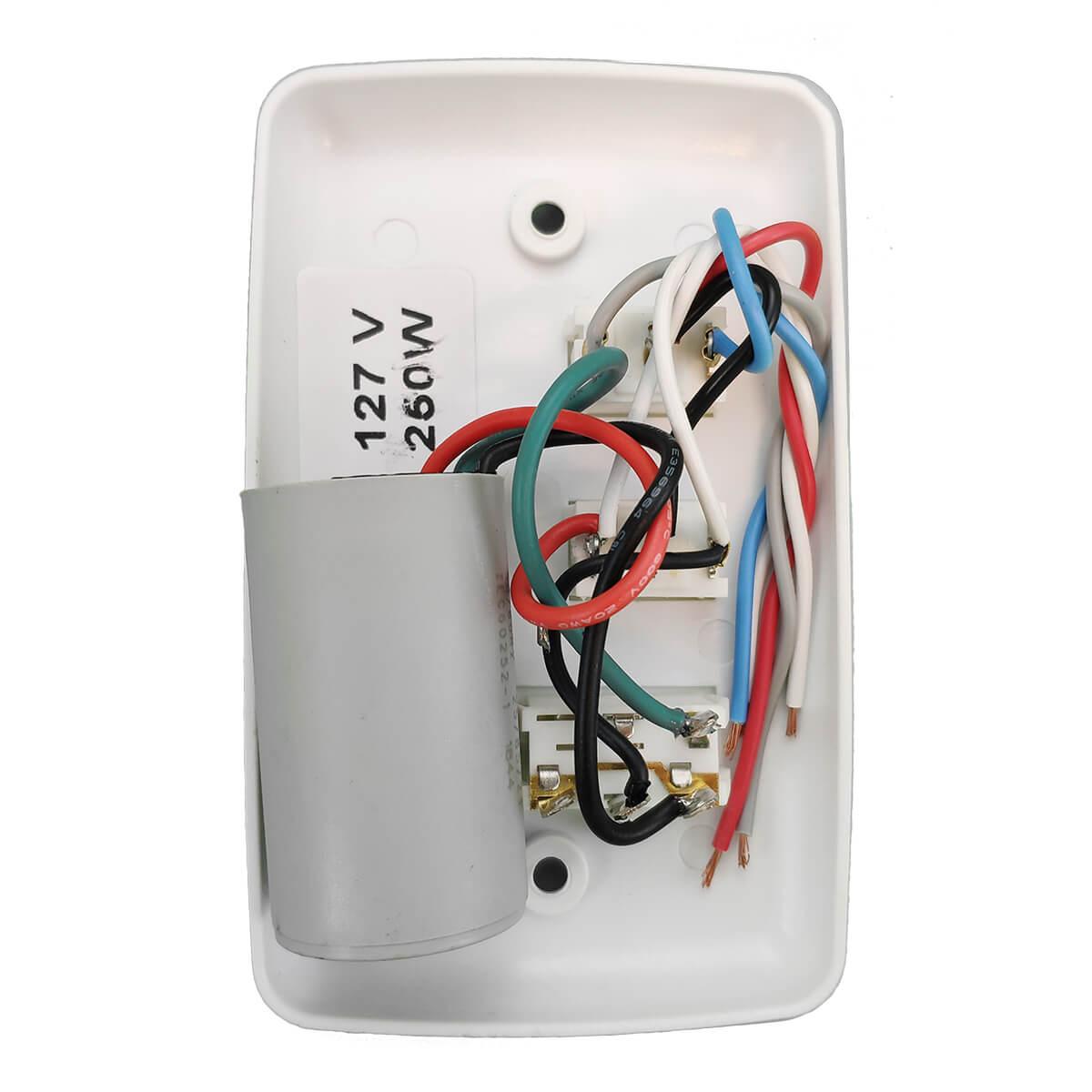 Controlador de Ventilador 3 Velocidades Com Reversão 110V
