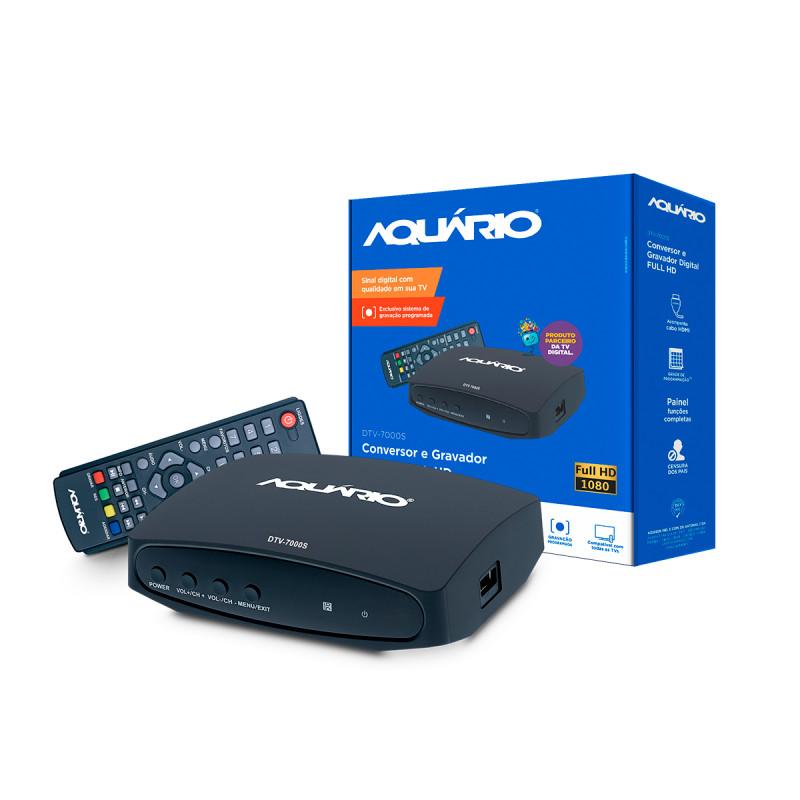 Conversor Digital Full HD DTV-7000S - Aquário