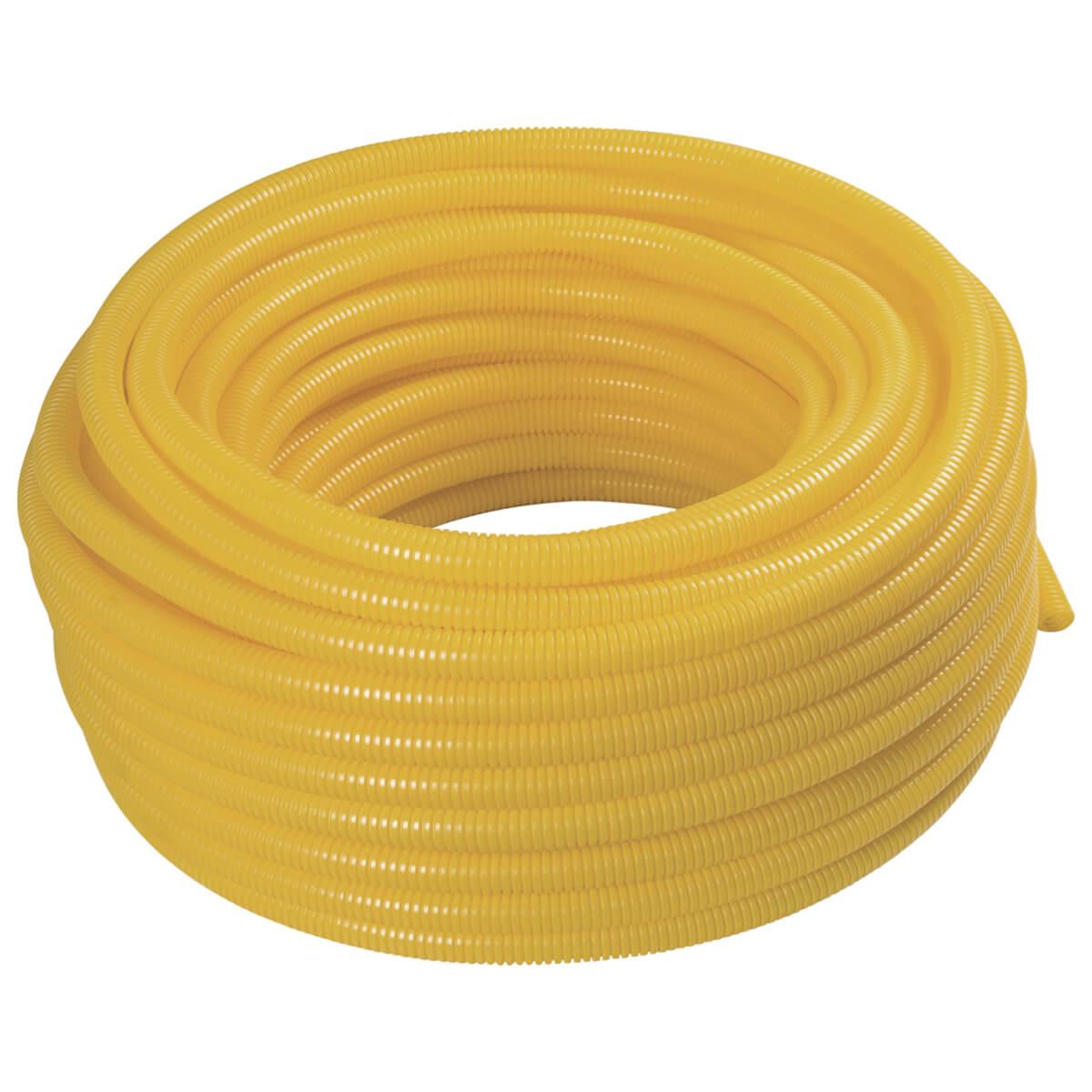 "Eletroduto Corrugado 3/4"" 50 Metros Amarelo - Krona"